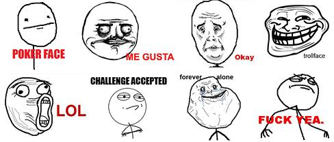 memes da internet Trollface, Fuuu, Forever alone: afinal, como surgiram e o que significam os chamados memes da internet?