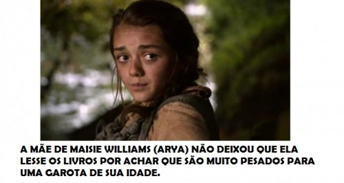 maise williams 500x266 Game of Thrones: 7 curiosidades sobre a série!