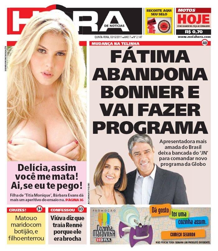 capa jornal meia hora 6 Meia Hora: as capas mais engraçadas desse jornal bizarro!