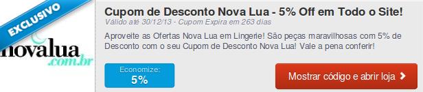 Cupom exclusivo Nova Lua1 Cupom: Cupons e descontos exclusivos para o ajudar nas suas compras online