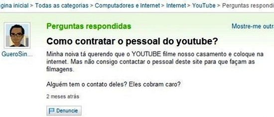youtube yahoo Yahoo Respostas: as 10 perguntas mais engraçadas!