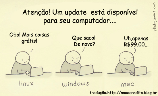 update copy Linux x Win x Mac: atualizando o pc...