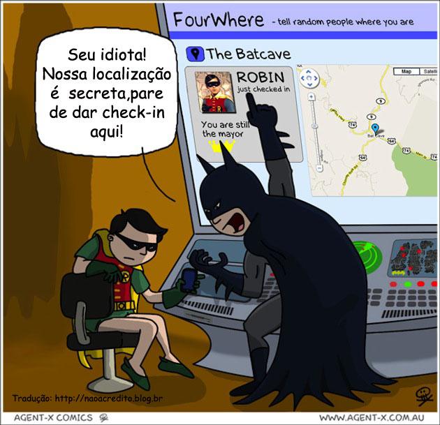 Tecnologia: porque o Batman odeia o Foursquare…
