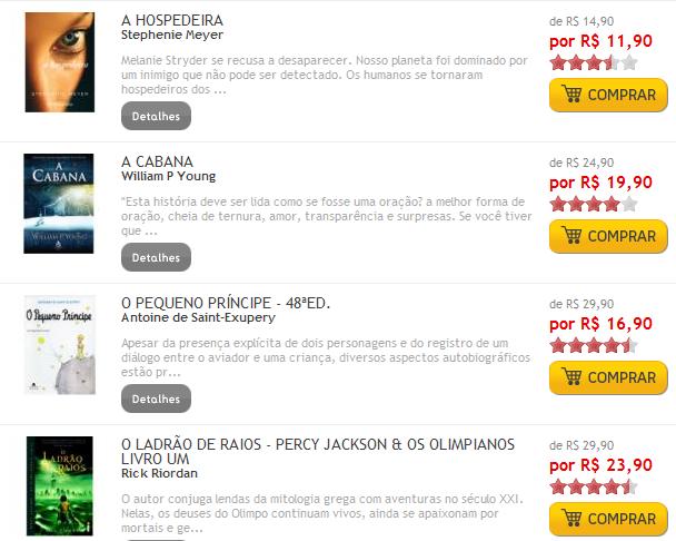 Livros: Best-Sellers com 20% de desconto na FNAC!