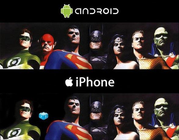 android x iphone Android x Iphone: entenda a diferença com ajuda da liga da justiça!