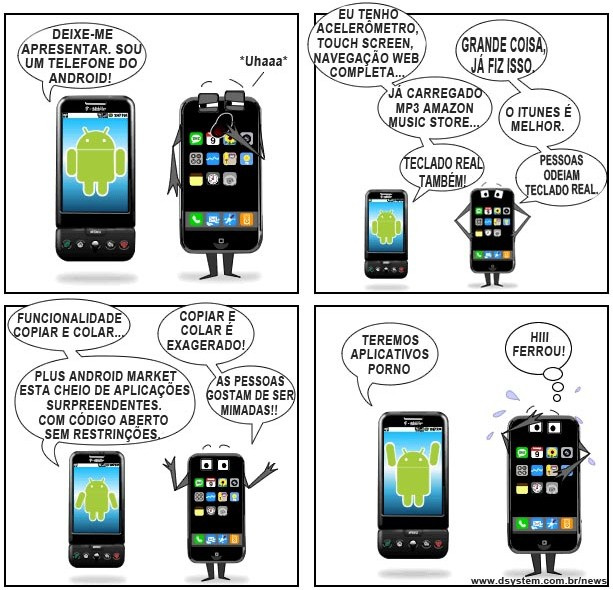 android x iphone Humor: Android vs. Iphone