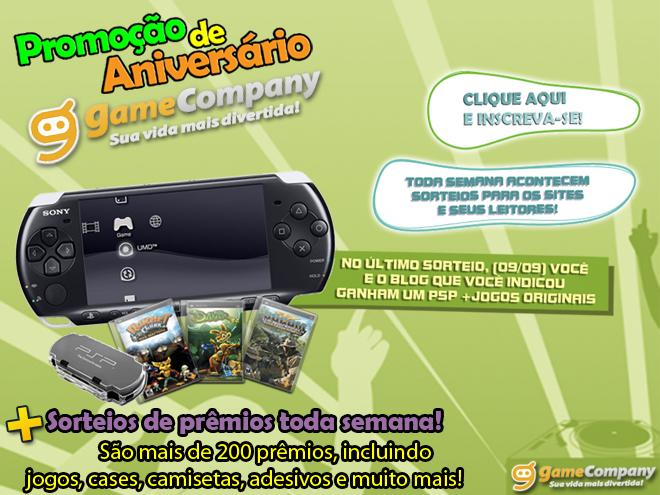 game company Promoção: concorra a PSPs, jogos e muito mais!