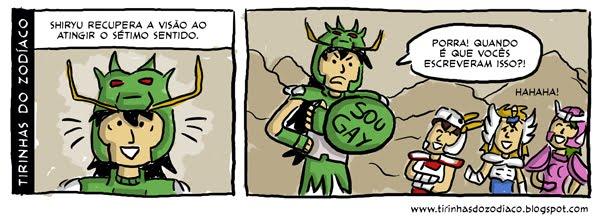 tirinhas cavaleiros do zodiaco4 Humor: tirinhas dos Cavaleiros do Zodíaco !