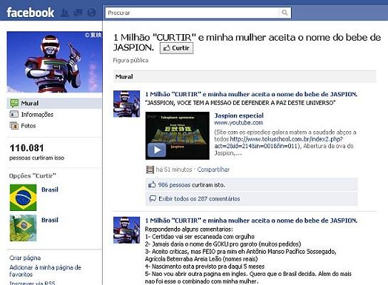 jaspion Bizarro: internauta cria campanha para que sua mulher batize o bebê deles... com nome de Jaspion!