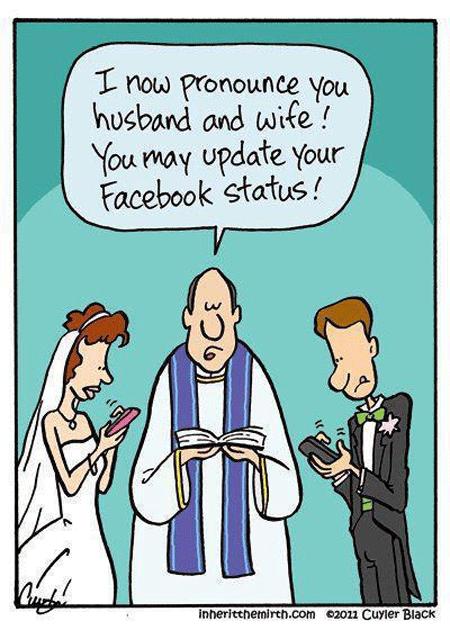Humor:redes sociais e os casamentos modernos….