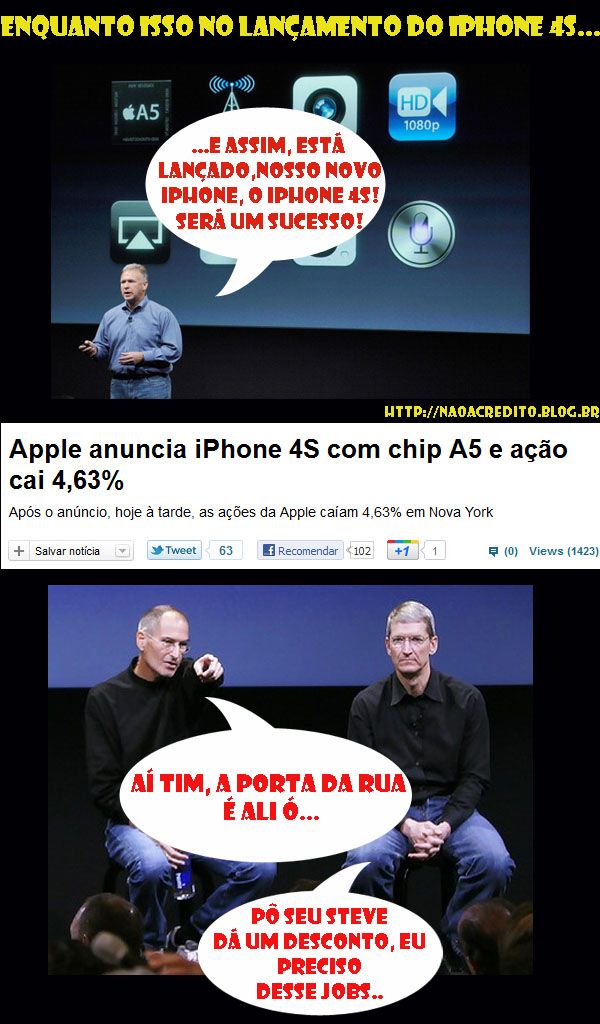 Humor: Iphone 4S, o maior #fail do ano….