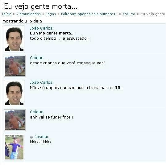 Humor: I see dead people no orkut…