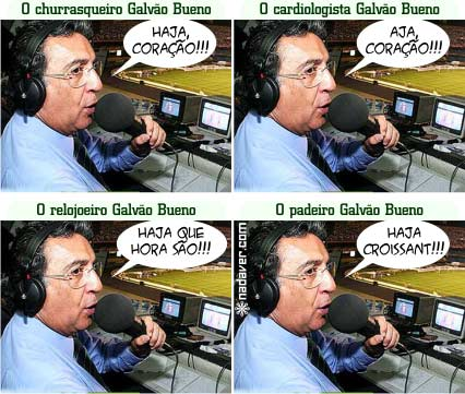 galvao bueno Vídeo da briga no ar: Galvão X Renato Maurício Prado!