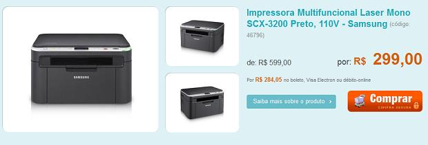 multifuncional barata Multifuncional por R$299,00, HD externo e Notebook em promoção:são as ofertas dos patrocinadores!