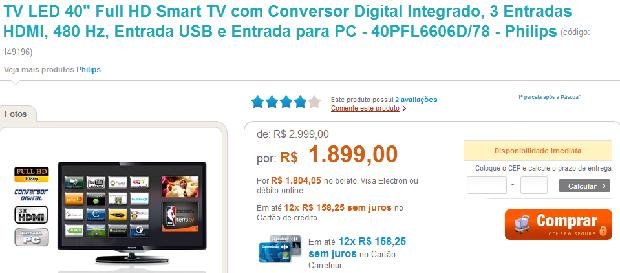 tv barata led Multifuncional por R$299,00, HD externo e Notebook em promoção:são as ofertas dos patrocinadores!
