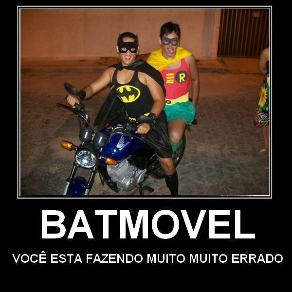 batmovel humor Humor: Batman tabajara cai no carnaval do Brasil...