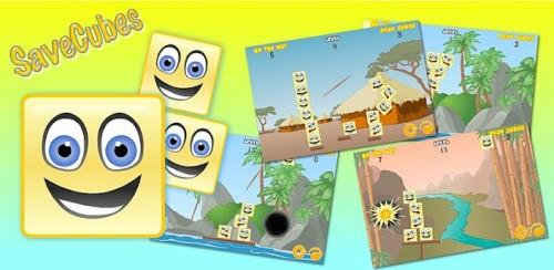 savecubes 500x244 Android games: conheça o super jogo SaveCubes, desenvolvido por um brasileiro!