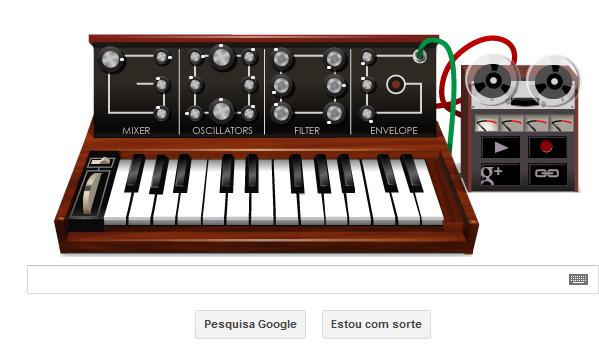 Google synth:entenda o que é esse teclado moog que apareceu no Google!