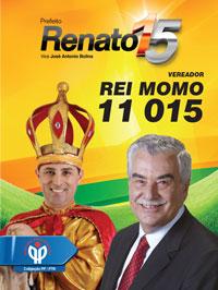 Santinho Rei Momo Renato
