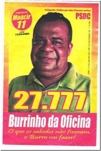 candidatos malucos 2012 burrinho