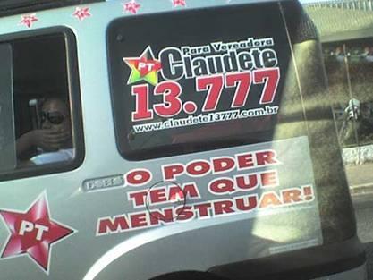 candidatos malucos 2012 menstruar