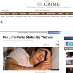 Bizarro! Chinês tem órgão sexual roubado na China!