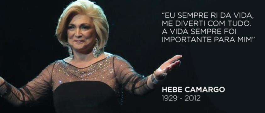 Não acredito: Morreu hoje a apresentadora Hebe camargo!