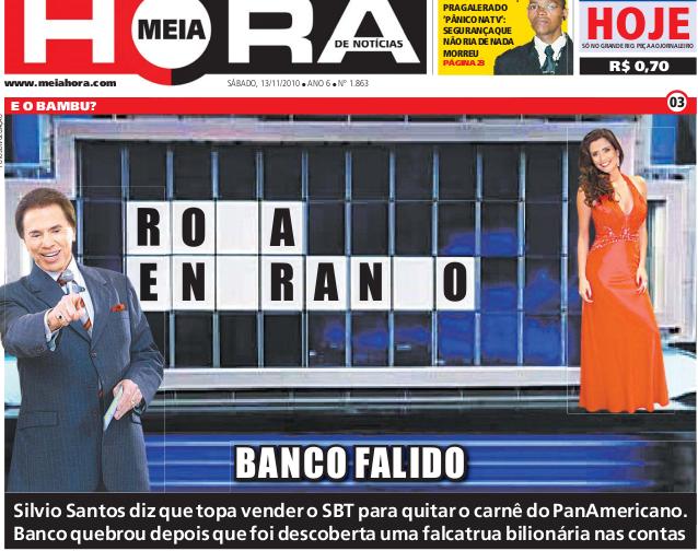 capa jornal meia hora 3 Meia Hora: as capas mais engraçadas desse jornal bizarro!