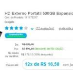 HD Externo Portátil 500GB Expansion USB 3.0 por R$199 – confira!
