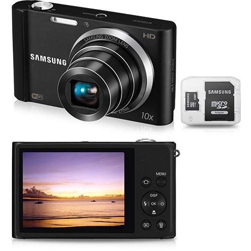 Câmera Digital Samsung ST200 (16.1 MP) Preta c/ 10x Zoom Óptico, Foto Panorâmica, Wi-Fi :R$299 !