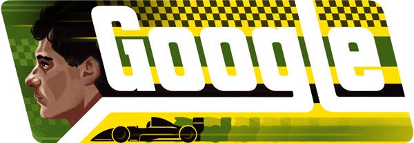 Google homenageia Senna com 'Doodle' de aniversário!