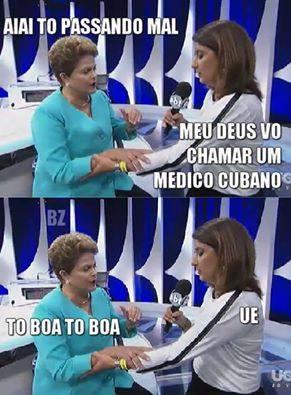 Dilma passa mal em debate ( Video)