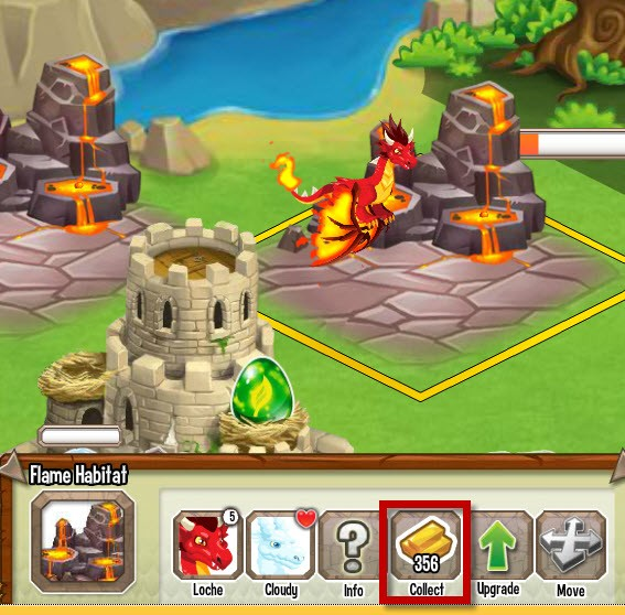 dragon city dicas recolher