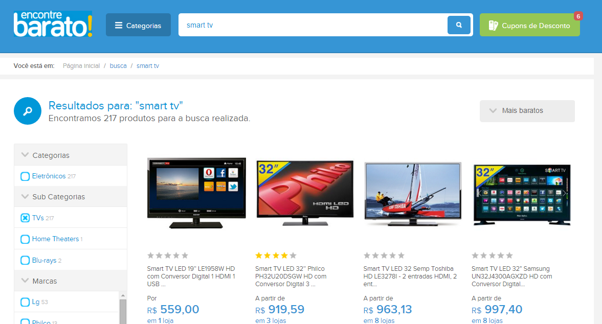 Encontre Barato:conheça o melhor comparador de preços da Internet!