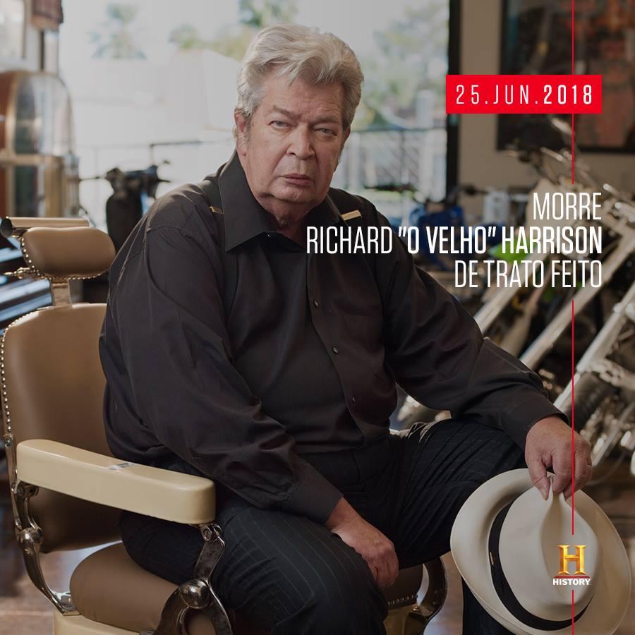 morre velho trato feito Morre Richard Harrison o velho de TRATO FEITO (LUTO)