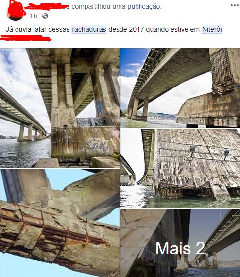 ponte rio niteroi rachadura A ponte Rio Niterói está prestes a cair? Saiba a verdade
