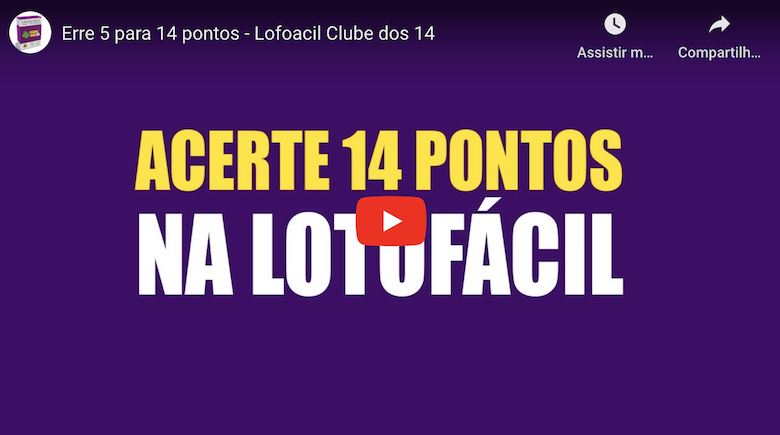 Clube dos 14 – Acerte na Lotofacil com fechamentos matematicos!